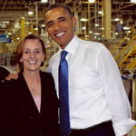Alumni Susie Adams Maroon with President Obama
